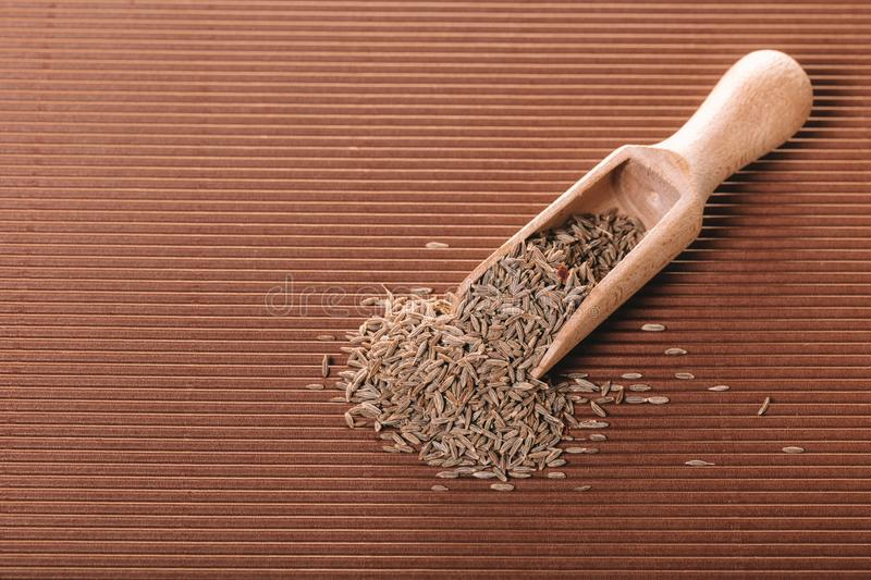 Dry spices cumin closeup stock images