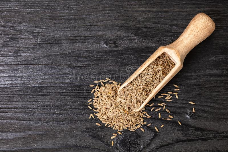 Dry spices cumin stock image