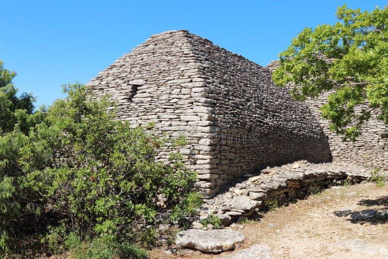 Dry stone hut in Bories Village, Gordes, France stock photo