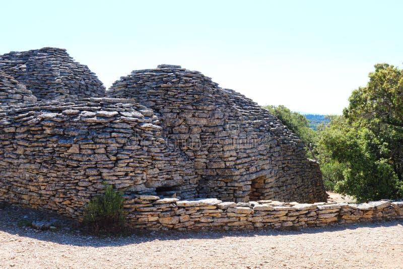 Dry stone shed, Bories Village, Gordes, France stock photo