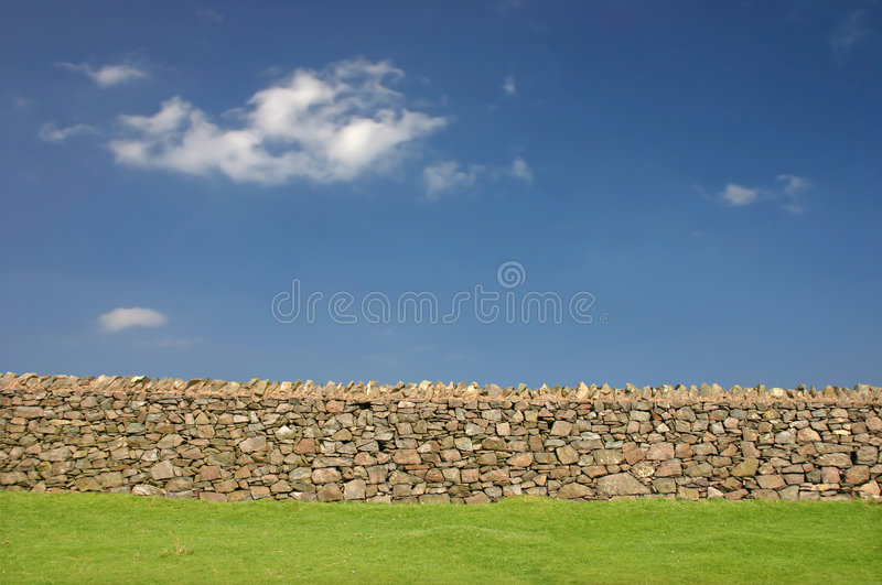 Download Dry Stone Wall stock image. Image of field, boundary, wall - 5136371