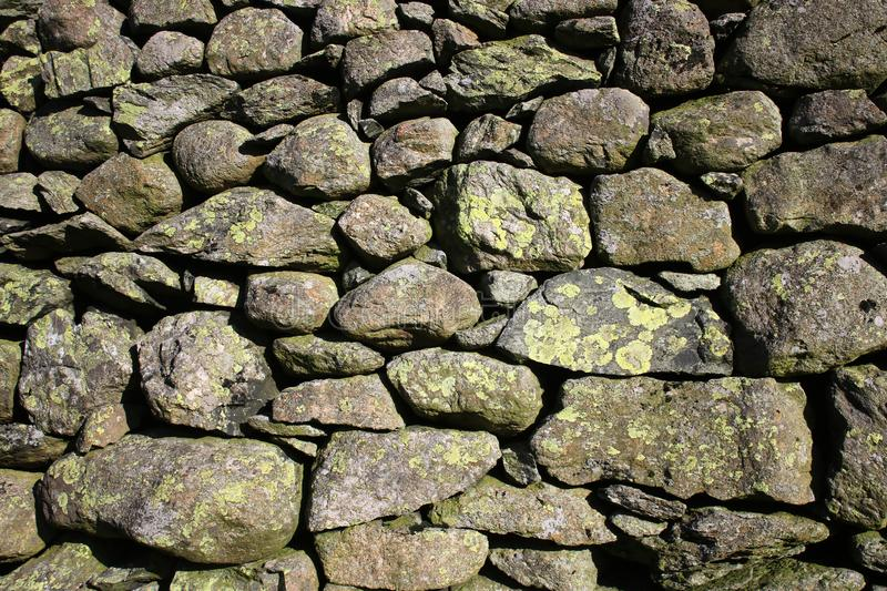 Dry stone wall, Cumbria royalty free stock photography