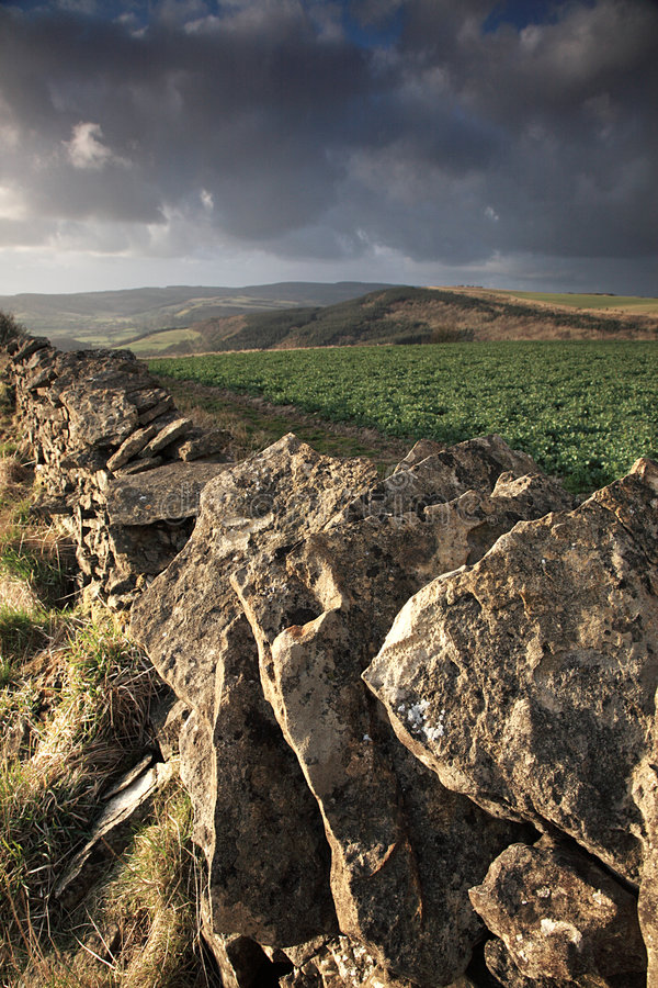 Free Dry Stone Wall View Stock Photography - 4838822