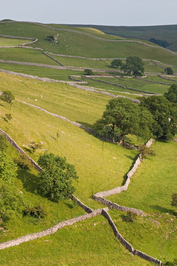 Dry stone walls royalty free stock photography