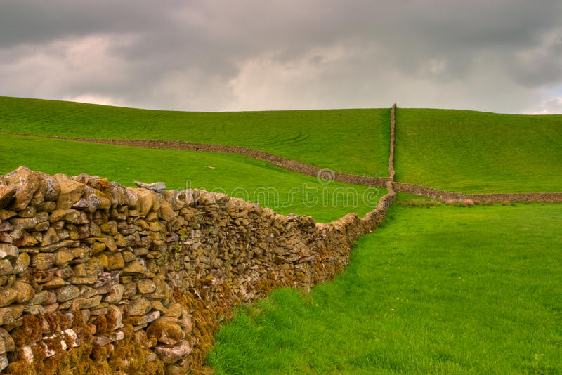 Download Dry stones wall stock image. Image of blue, bright, pasture - 17444449