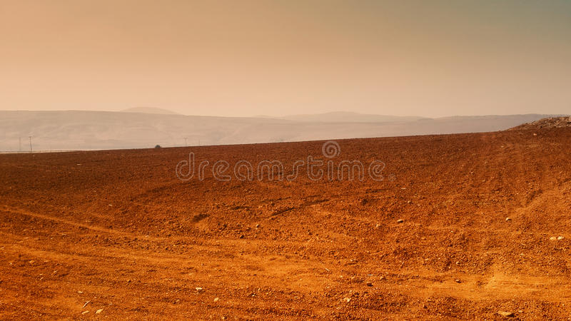 Dry Summer Farmland stock photography