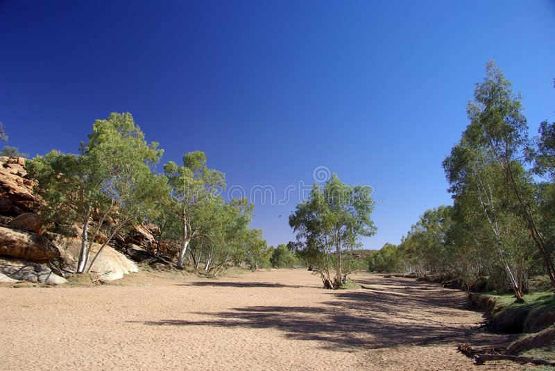Dry Todd River royalty free stock photo