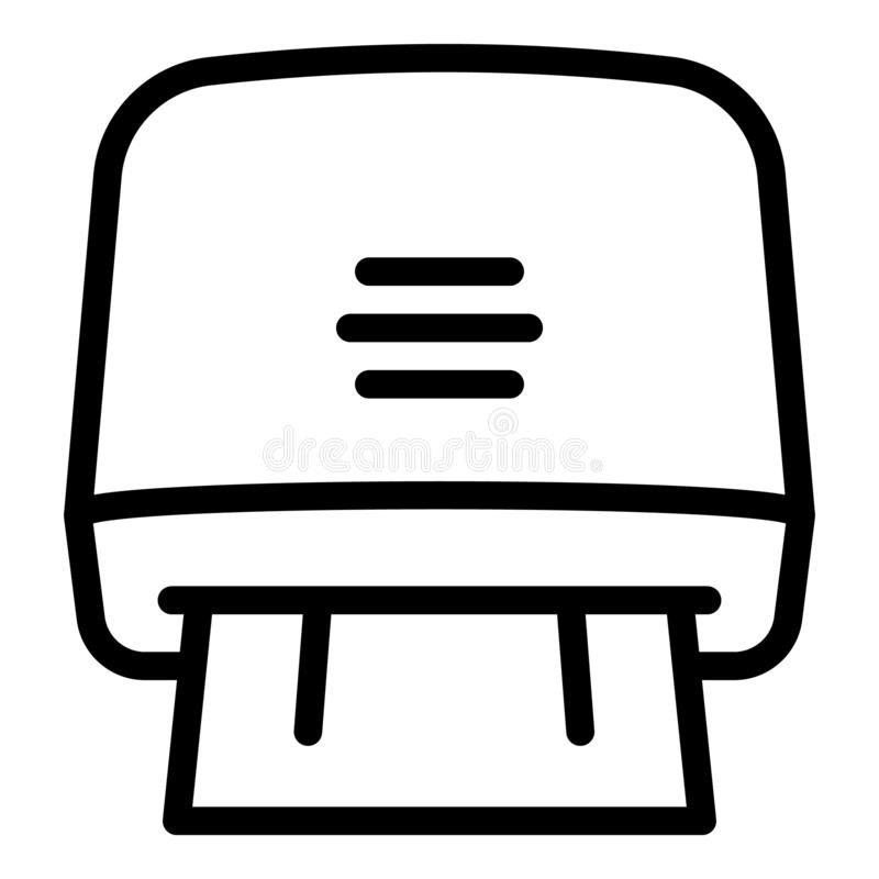 Dry toilet paper towel icon, outline style royalty free illustration