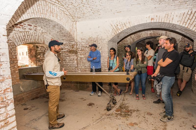 Dry Tortugas National Park Tour in Fort Jefferson stock images