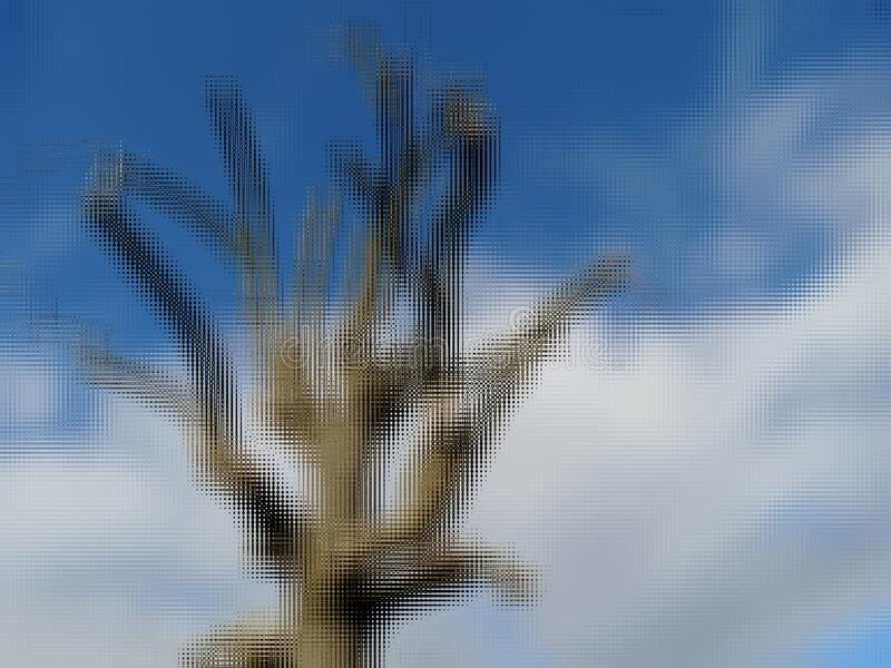 Dry Tree Under A Blue Sky With White Clouds royalty free stock images