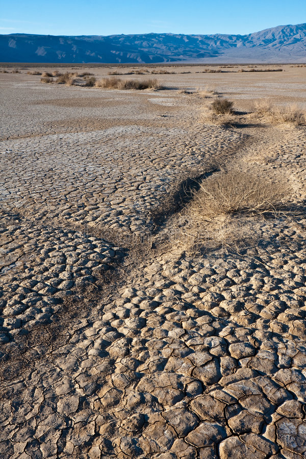 Dry Water Bed in Death Valley stock image