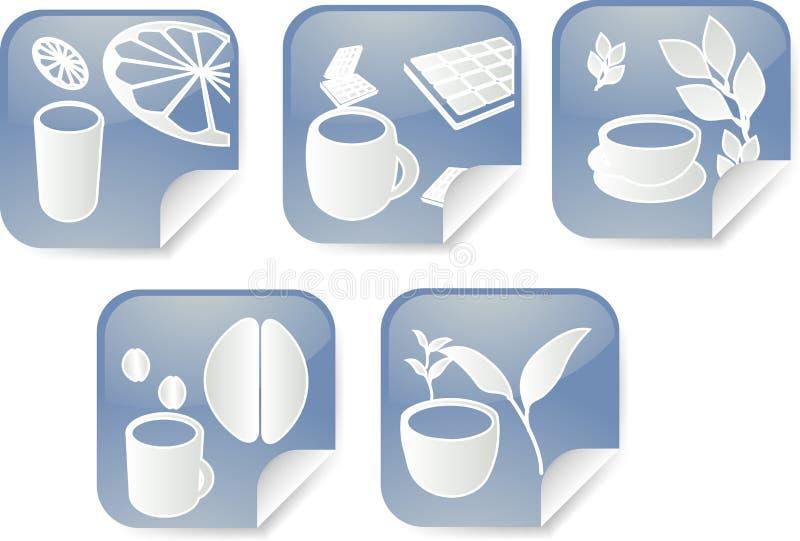 drycketiketter stock illustrationer