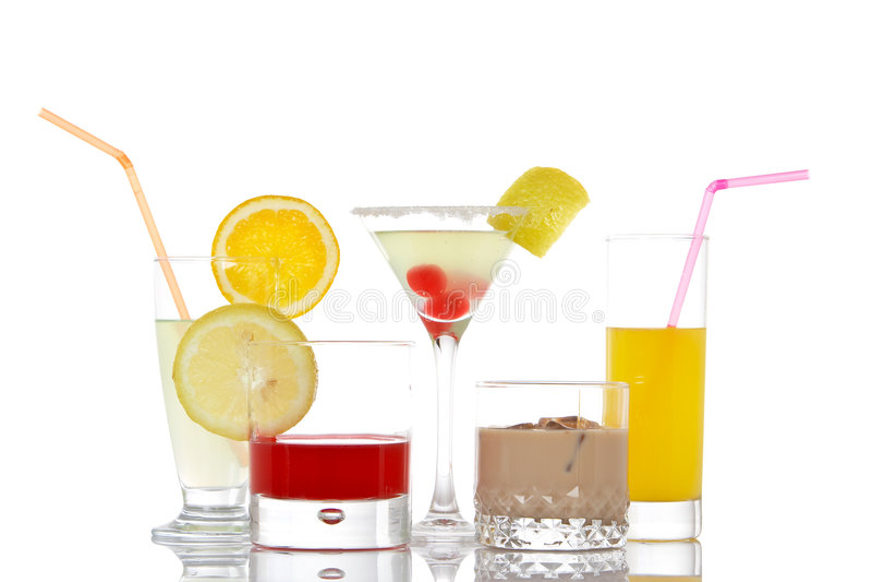 dryckexponeringsglas arkivfoton