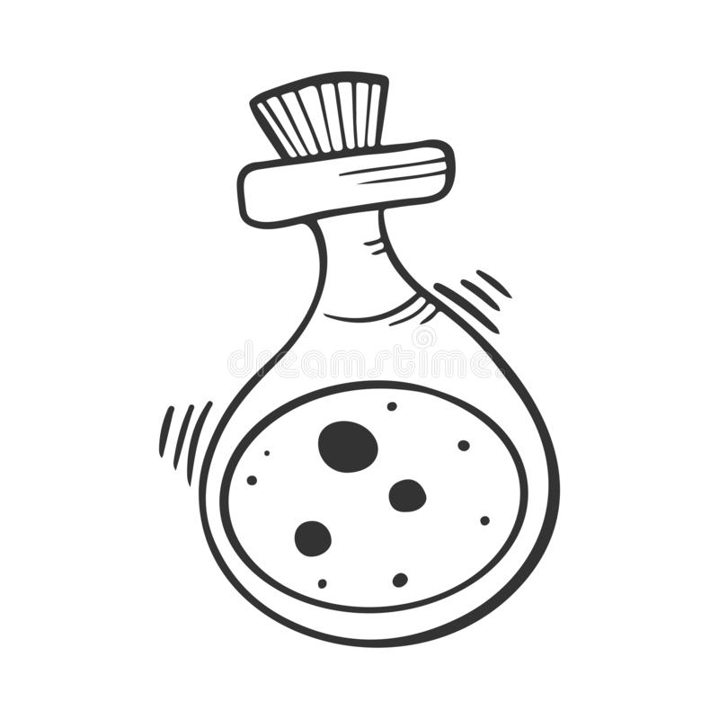 Dryckflaska Vektorbegrepp i klotter och att skissa stil vektor illustrationer