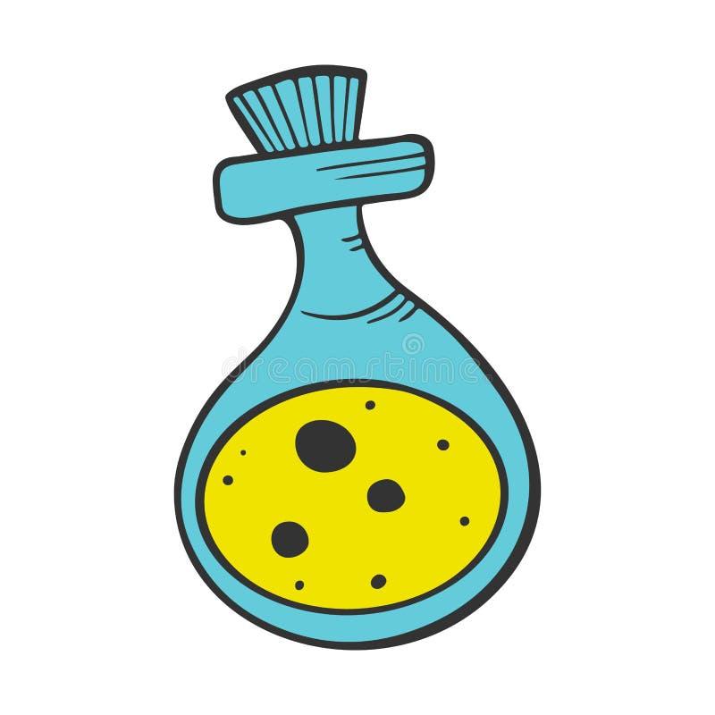 Dryckflaska Vektorbegrepp i klotter och att skissa stil stock illustrationer