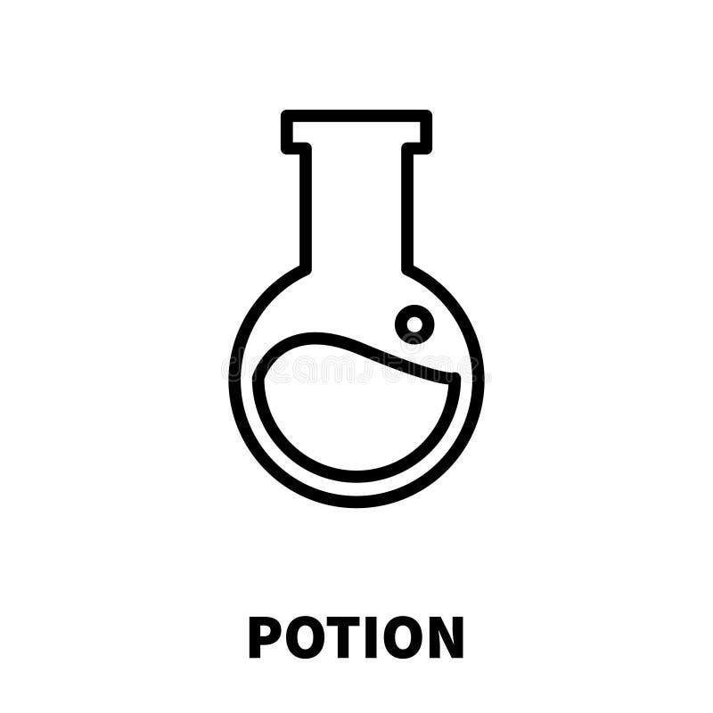 Drycksymbol eller logo i den moderna linjen stil vektor illustrationer