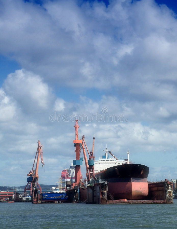 Download Drydock At Gothenburg 02 Royalty Free Stock Photos - Image: 5895588