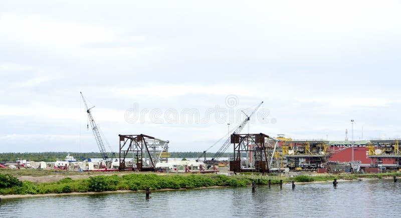Drydock on river niger. Detail of drydock along the river of niger royalty free stock images