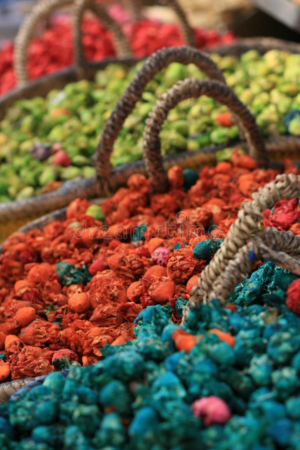 Download Dryed Flowers In Baskets,pot Pourri Various Colors Stock Image - Image: 16973039