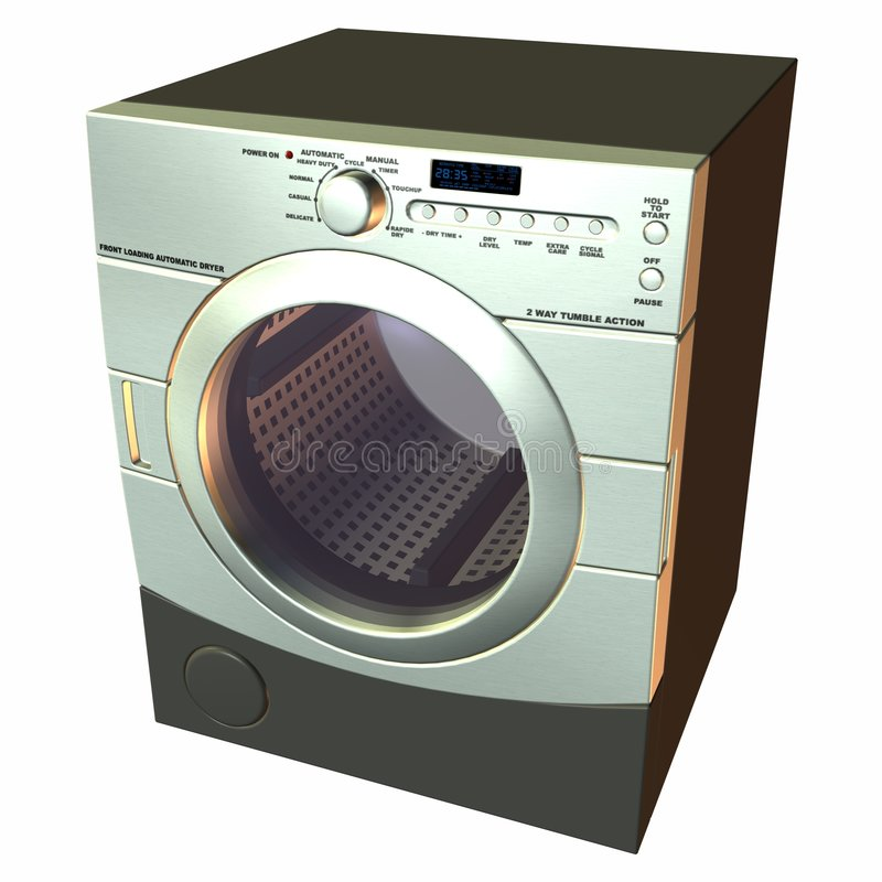 Dryer. 3 D Computer Render of an Dryer royalty free illustration