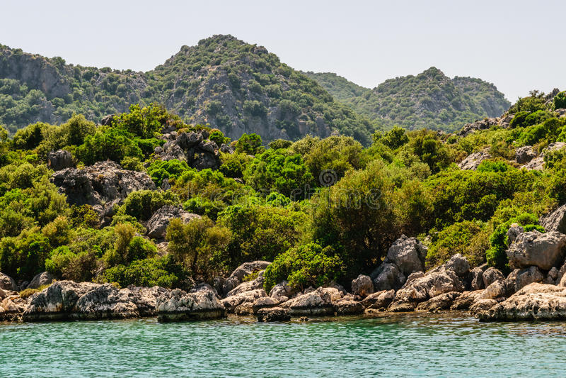 dryftowego morza Śródziemnego połowów tuńczyka morski netto Kekova zatoka zdjęcia royalty free