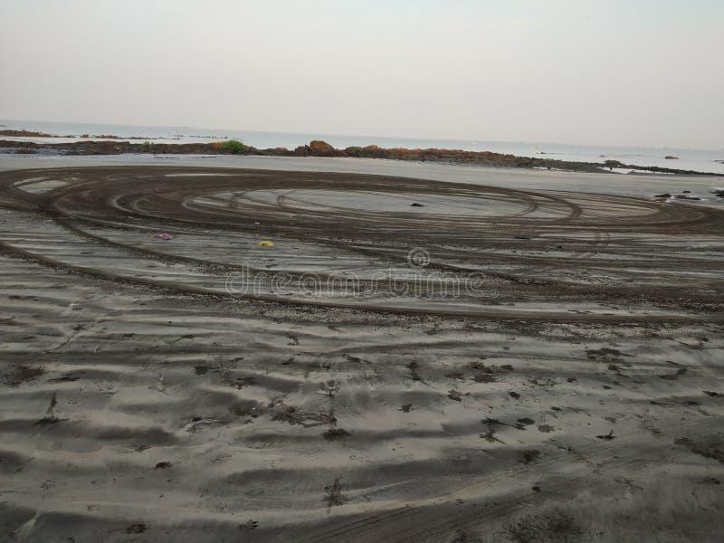 Dryfujący samochodem plaża obrazy stock