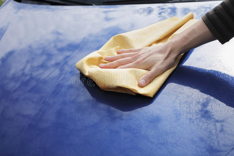 Download Drying car stock image. Image of hood, synthetic, wiping - 10301071