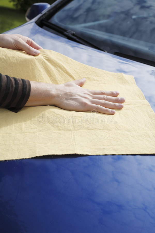Download Drying car stock photo. Image of wipes, chamois, blue - 8724006