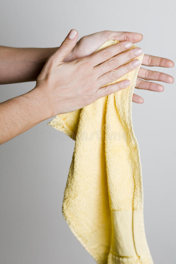 Drying Hands With A Towel Stock Image Image Of Health