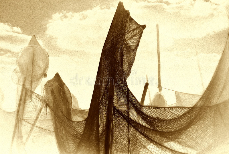 Download Drying the net stock illustration. Image of trammel, artistic - 6606