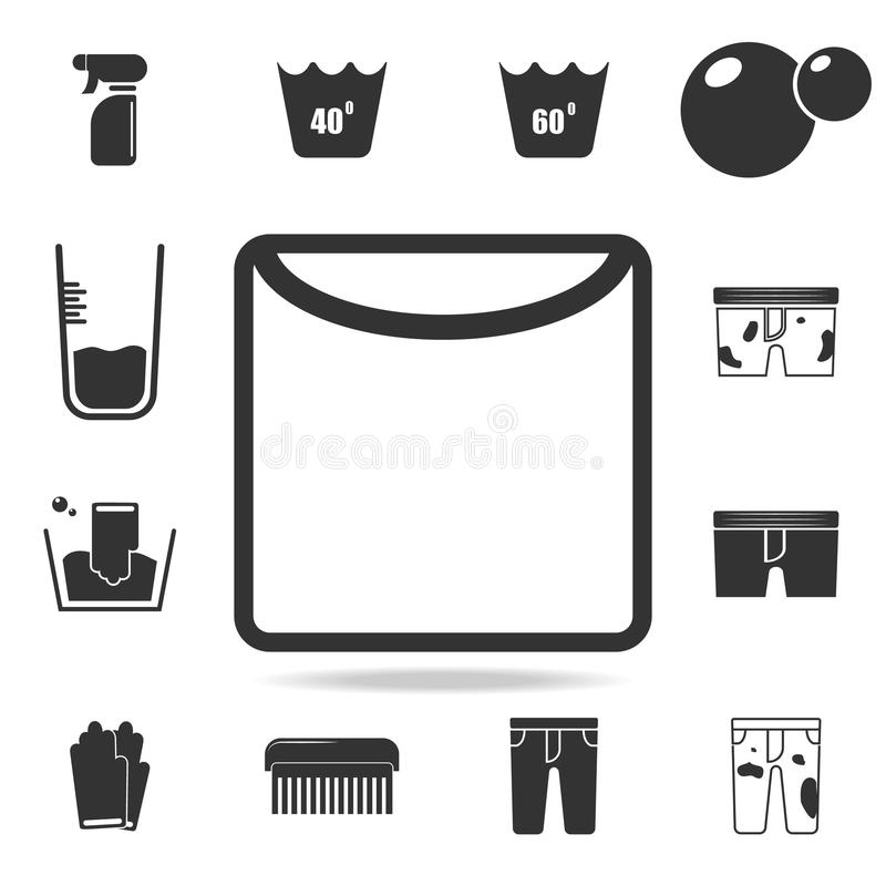 drying in unfolded form icon. Detailed set of laundry icons. Premium quality graphic design. One of the collection icons for websi stock illustration