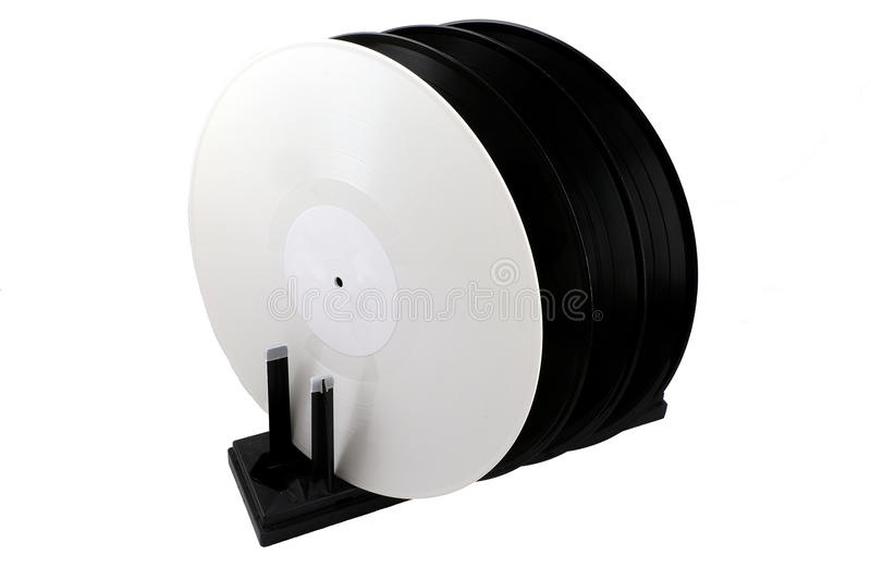 Drying for vinyl records stock photography
