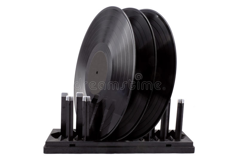 Drying for vinyl records royalty free stock photo