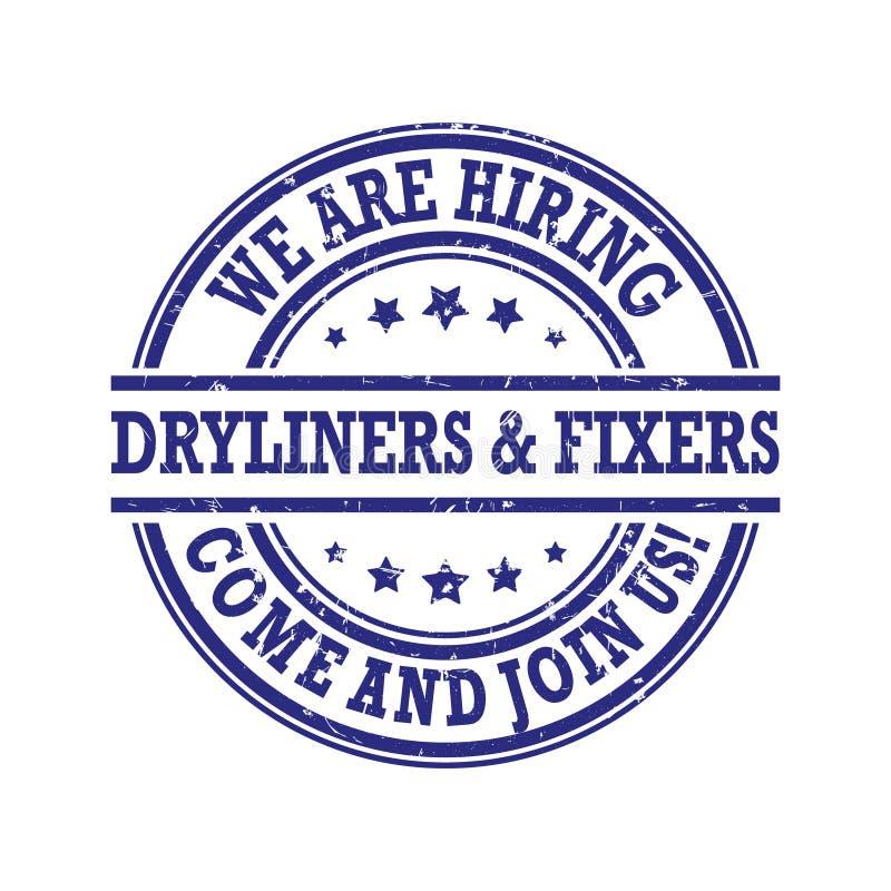 Dryliners i magicy printable odznaka - zatrudniamy - ilustracji