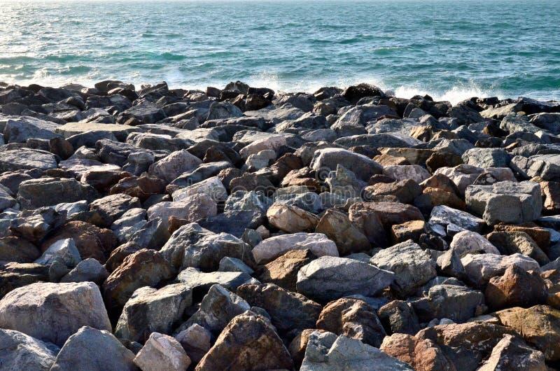 Dryluje sztucznego zredukowanego Palmę Dubaj, Arabska zatoka zdjęcie royalty free