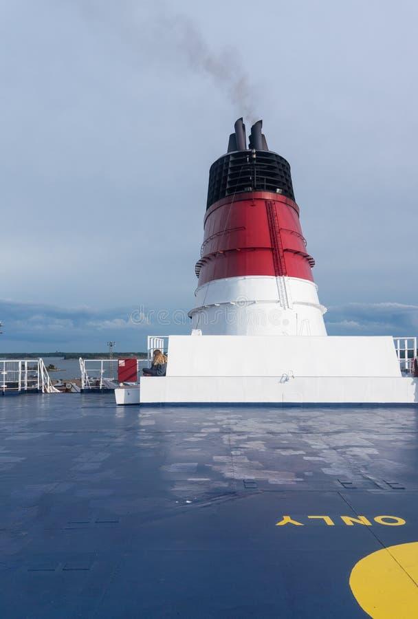 Drymba na pokładzie statek zdjęcie stock