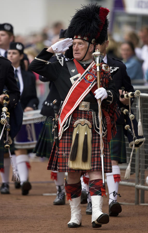 Drymba Ważna Przy Cowal Zgromadzeniem W Szkocja Obraz Editorial