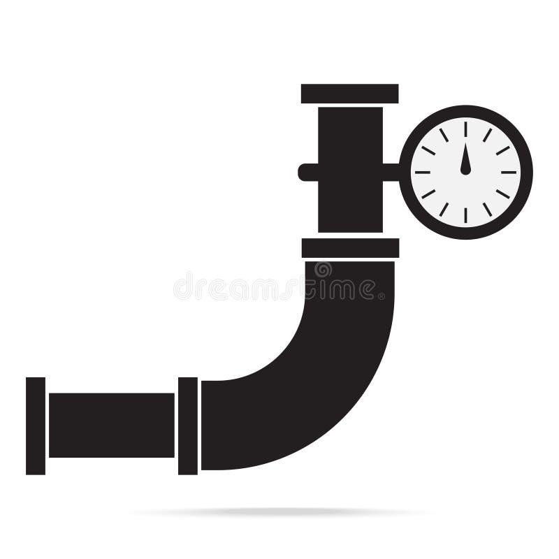 Drymby i gage naciska ikony znaka ilustracja ilustracji