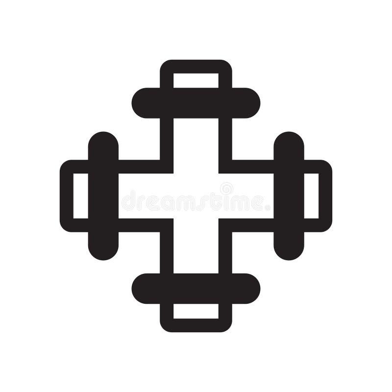 Drymby ikony wektoru znak i symbol odizolowywający na białym tle, drymba logo pojęcie royalty ilustracja