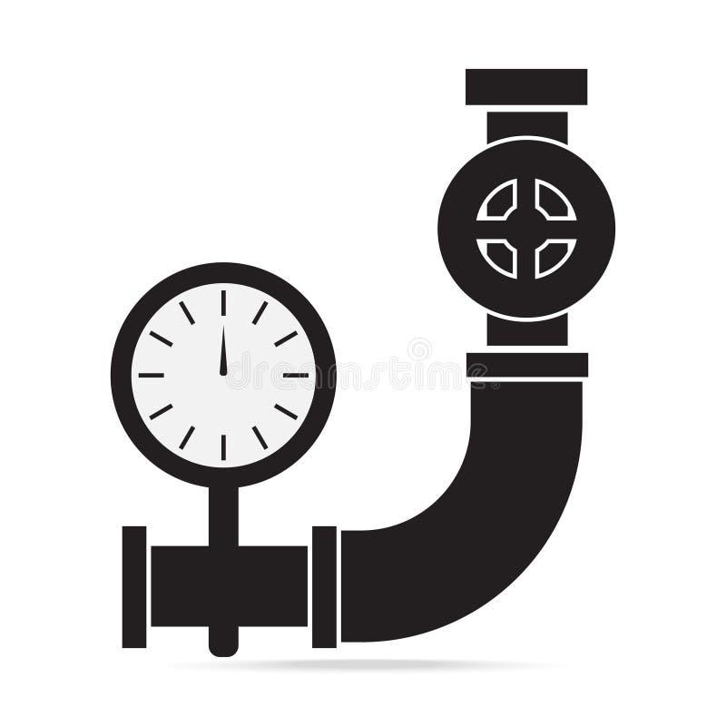 Drymby, klapy i gage naciska ikona, podpisuje ilustrację ilustracja wektor