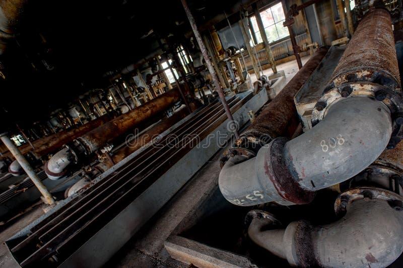 Drymby - Porzucona Sulfuric kwasu Koncentracyjna roślina - Zaniechanego Indiana wojska Amunicyjna zajezdnia - Indiana obrazy royalty free