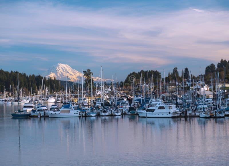 Drynduli schronienie, WA usa _Styczeń, 20 2015 Drynduli schronienie jest popularnym turystyki przyciąganiem na Puget Sound obraz stock