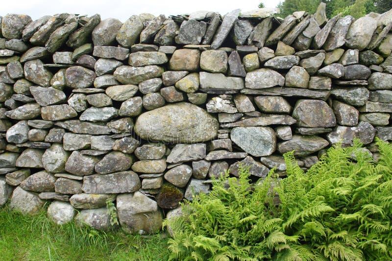 Drystone Wand lizenzfreies stockfoto