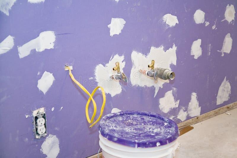 drywall установленный заново стоковые фотографии rf