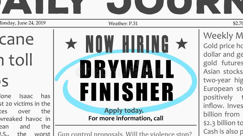 Drywall remodeler job stock image