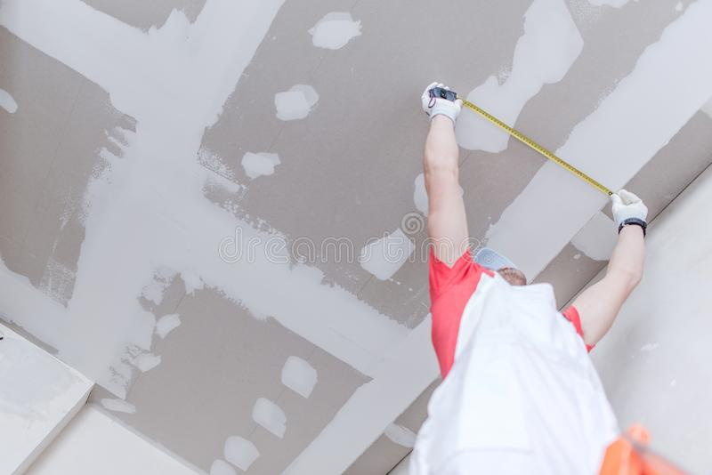 Download Drywall Measurement stock photo. Image of remodeling - 93789762