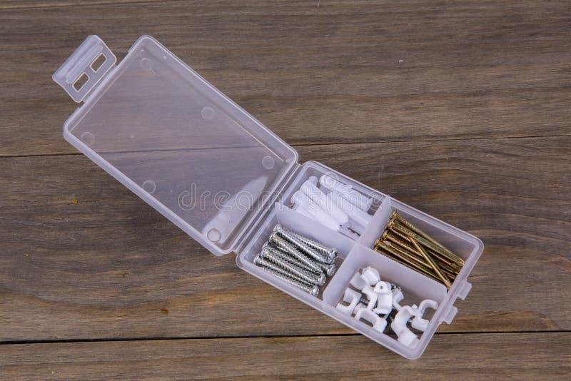 Drywall screws kit royalty free stock image