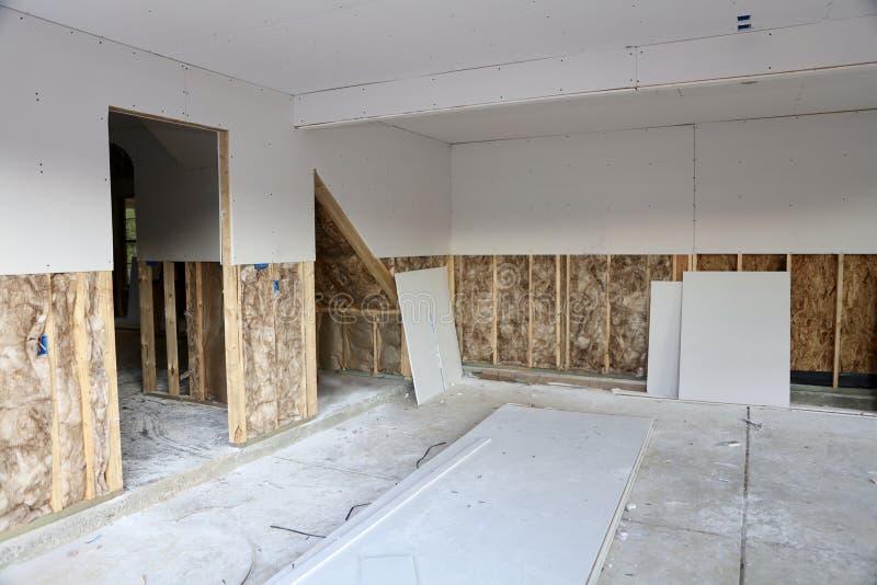 Drywallinstallation arkivfoto