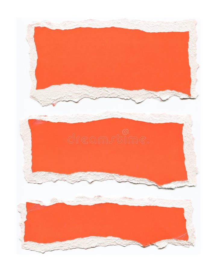 drzejąca papierowa czerwień obraz stock