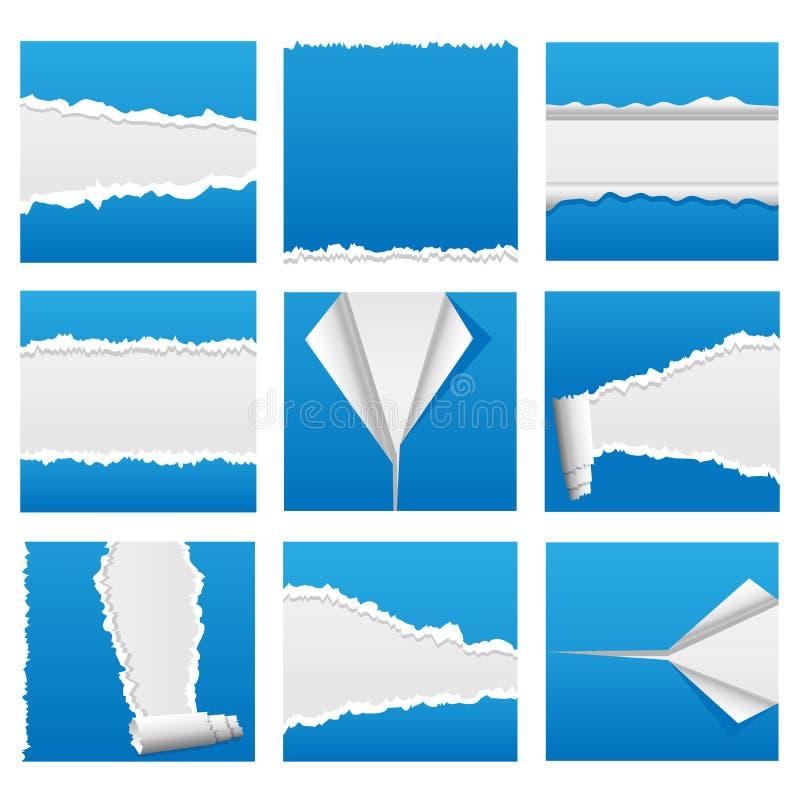 drzejący (1) papierowy set ilustracji